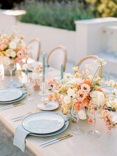 Wedding Reception Tables, Wedding Table Settings, Wedding Wishes, Our Wedding, Table Setting Inspiration, Woods Photography, Spring Wedding Inspiration, Greenhouse Wedding, Wedding Trends