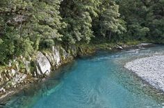 Blue Pools of Haast Pass, West Coast of New Zealand's South Island.
