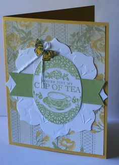 Cup of Tea Friendship Card Set with Butterfly