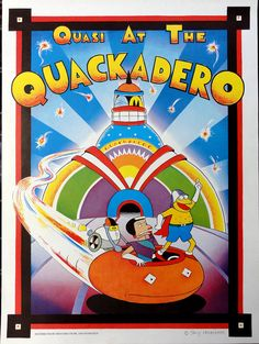 Quasi at the Quackadero poster by funonmars on Etsy, $100.00