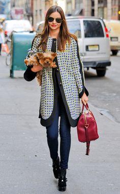 Miranda Kerr & her puppy.