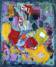 """Ethel Schwabacher (May 20, 1903 - 1984): Sunday, 1955 - oil on canvas (Smithsonian) """"Schwabacher was a protege of Arshile Gorky, his first biographer, and herself a well-known abstract expressionist..."""