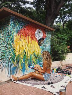 Wall Painting Decor, Mural Wall Art, Graffiti Wall, Canvas Wall Art, Wall Paint Inspiration, Garden Wall Art, Floor Murals, Murals Street Art, Wall Drawing