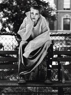 V Magazine Fall Saint Mark's Place Models: Agyness Deyn, Mike Caiazzo Photographer: Alasdair McLellan Fashion Editor: Beat Bollinger Portraiture, Agyness Deyn, St Marks Place, Sweater Trends, Style, Fashion Photography Inspiration, Alasdair Mclellan, Photo, Fashion