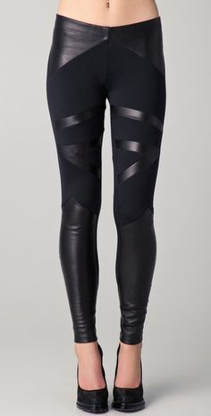 David Lerner Tribal Leather Insert Leggings | SHOPBOP | Use Code: EXTRA25 for 25% Off Sale Items