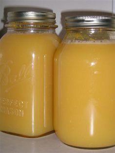 canning orange juice