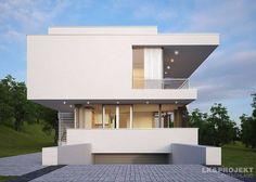 Mit einfachen Mitteln haben die Architekten der LK&Projekt GmbH einen offenen Palast geschaffen, der mit Flachdach, klaren Formen und strahlender Fassade überzeugt! Auf zwei Etagen können sich Familien in diesem Haus voll und ganz austoben - egal, ob in einzelnen Zimmern oder dem gemeinsamen Wohnbereich.