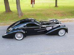 Vintage Cars 1937 Bugatti Type Atlantic Replica for sale Bugatti Cars, Ferrari, Lamborghini, Vintage Cars For Sale, Art Deco Car, Auto Retro, Camaro Rs, Mustang Cars, Unique Cars