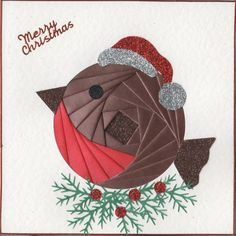 Iris Folding : Christmas Robin