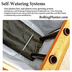 We make our planters able to do everything. Hydroponics, Aquaponics, Self-Watering Wicking Beds, Conventional Hand Watering, Drip Systems. We like to save water. Our systems contain it and provide a means of best conservation. No matter what your ability to garden we have a solution. www.RollingPlanter.com
