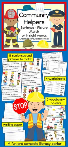 Do you need a literacy component for your community helpers unit? Check out this…