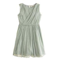 An elegant dress for all the grown-up places she goes, finished with a draped neckline and a skirt that's made for twirling. <ul><li>A-line silhouette.</li><li>Falls above knee.</li><li>Silk chiffon.</li><li>Back zip.</li><li>Dry clean.</li><li>Import.</li><li>Online only.</li></ul>