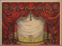 Papieren theater in kleur, voorstellende een voordoekhttp://www.geheugenvannederland.nl