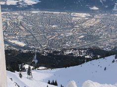I skied this very run in January.  Tons of snow and I will always remember how high I was above Innsbruck!
