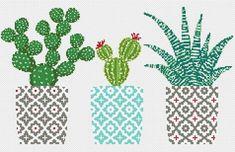 Cactus cross stitch pattern Geometric cross stitch pattern Natural embroidery sampler Flower, floral cross stitch PDF printable Modern Gift - DIY and Crafts Cactus Cross Stitch, Small Cross Stitch, Cute Cross Stitch, Modern Cross Stitch, Cross Stitch Flowers, Cross Stitch Geometric, Embroidery Sampler, Embroidery Hoop Art, Easy Cross Stitch Patterns