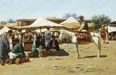 Richard Karlovich Zommer (Russian, 1866-1939) Market scene