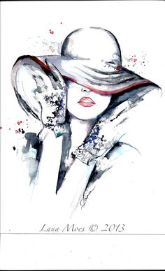 Paris Fashion Illustration  Original Watercolor  by LanasArt, $95.00