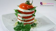 Tasty caprese (Fresh tomatoes and mozzarella) with oregano sauce