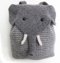 knit baby elephant backpack