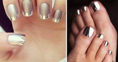 Модный цвет сезона осень-зима — 2016: обожаю металлик и серебристые украшения! Reflexology, Nails, Beauty, Finger Nails, Ongles, Nail, Cosmetology, Nail Manicure