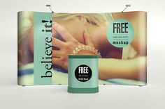 Trade Show Booth Mockup PSD to present your exhibition stand design in a photorealistic look. Environmental Graphic Design, Environmental Graphics, Exhibition Stand Design, Exhibition Booth, Billboard Mockup, Free Mockup Templates, Show Booth, Japanese Graphic Design, Free Photoshop