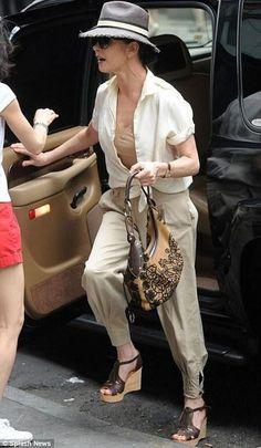 Who made Catherine Zeta Jones' black wedges? Shoes – Chloe
