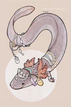 "komiti: "" Mammal, Bird, Reptilian, Amphibian…I colored them finally! """