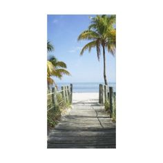 This way to paradise stretched canvas print