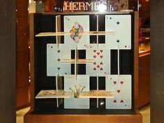 Window Display Using Cards. Hermes Window Display