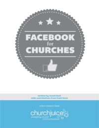 Free ebook: Facebook for Churches is a 32-page quick read loaded with tips, examples and strategies for getting the most out of your church Facebook page.