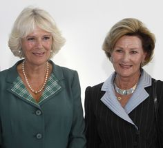 Camilla, The Duchess Of Rothesay (L) and Queen Sonja of Norway attend the official opening of a new Maggie's cancer support centre on September 23, 2013 in Aberdeen, Scotland. .......