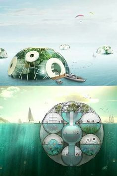 underwater spherical building