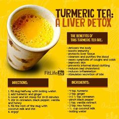 Skyrocket Your Health With Liver Detox Turmeric Tea Video Tutorial The WHOot is part of Turmeric drink - You will love this Turmeric Tea Liver Detox Recipe and so will your body The cleansing properties will restore you to new Get the recipe now Healthy Detox, Healthy Drinks, Easy Detox, Detox Foods, Vegan Detox, Healthy Juices, Healthy Teeth, Healthy Habits, Healthy Food