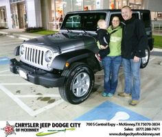 The whole experience at McKinney Dodge was fabulous. David Walls really went above and beyond to meet our expectations and give us an outstanding deal. They really treat you like family. I would recommend them to anyone! - Clay & Kimberly Allen, Saturday, November 23, 2013 http://www.dodgecityofmckinney.net/?utm_source=Flickr&utm_medium=DMaxxPhoto&utm_campaign=DeliveryMaxx