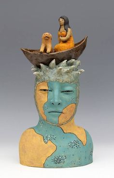 Sara Swink 'Crossing' ceramic 21″ x 10″ x 8″