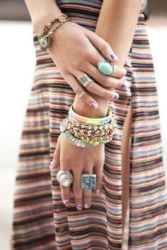 Braceletes + Anéis + Esmalte fofo!!!