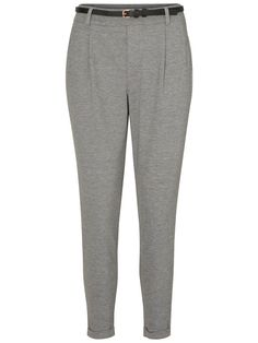 ENKEL BROEK, Light Grey Melange, large