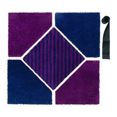 IKEA SJÄLVSTÄNDIG Rug, low pile Lilac/dark blue 148 x 148 cm You quickly and easily fix the different rug sections together by using the included touch-and-close fastening. Living Room Carpet, Rugs In Living Room, Room Rugs, Area Rugs, Ikea, Cow Hide, Blue Art, Carpet Runner, Rugs On Carpet
