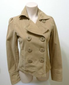 WOMEN AMERICAN EAGLE OUTFITTERS suede feel peacoat jacket XS