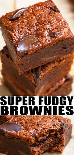 BLACK BEAN BROWNIES RECIPE- Quick, easy, fudgy, homemade with simple ingredients. Soft, moist, rich. Loaded with chocolate chips and cocoa powder. Sweetened with honey and brown sugar. Also flourless and gluten-free. From CakeWhiz.com #brownies #chocolate #fudge #dessert #baking #recipes #blackbean