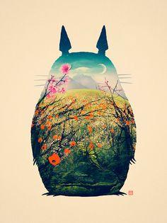 Tonari aucun Totoro par VictorsbeardArt sur Etsy