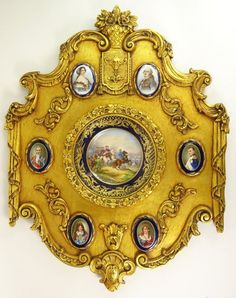 Carved and Giltwood Framed Circa 1875 French Sevres : Lot 243