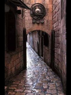 ALEPPO. Old Town Street.