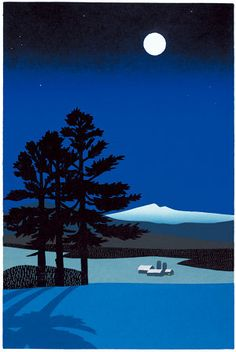 """""""Moon Shadow"""" - Sabra Field, Printmaker #stylecure I guess I'm starting to lean towards 'glam winter cabin'"""