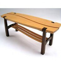 Douglas Fir And Walnut Bench by