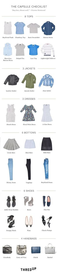 21 Style Charts That Will Help You Build The Perfect Capsule Wardrobe