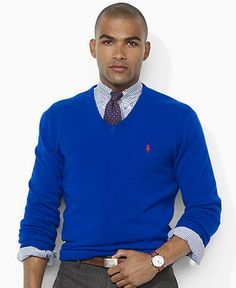 Polo Ralph Lauren Sweater, Wool V-Neck Sweater - Mens Sweaters - Macy\u0026#39;s
