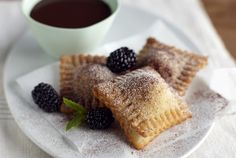 Driscoll's Hot and Crispy Blackberry Ravioli with Chocolate Fondue