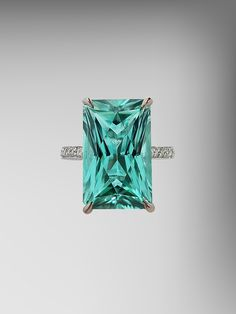 Solitaire Mint Tourmaline Ring... I want this for my wedding ring!!! Holy crap I'm in love!!!