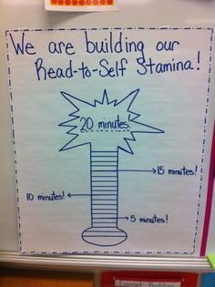 We are building our Read To Self stamina in Kindergarten!!! by magdalena